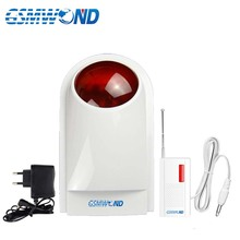 New Earykong 433MHz Wireless Strobe Siren For Home burglar alarm system With Battery Include the wireless