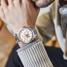 New fashion trend of 2019 automatic man watch with hollow back through Japanese sapphire mirror