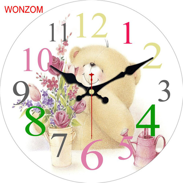 WONZOM Rabbit Modern Large Wall Clock Silent Living Room Animal Wall ...