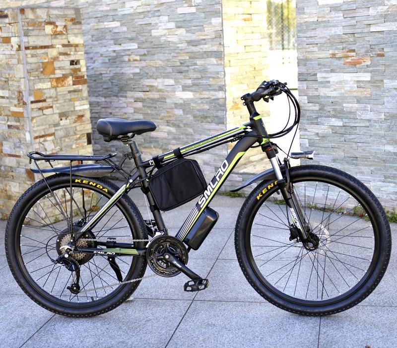 Olio freno 26 pollici mountain bike freno a disco auto batteria bicicletta elettrica batteria al litio modificato ciclomotore freno a disco 27 velocità