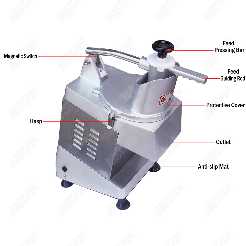 QC205 electric multi-purpose vegetable fruit cheese cutter dicing, cubing, slicing, stripped, grater slicer or shredded machine 3