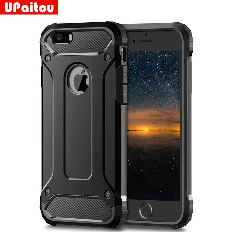 save off 255b8 715a0 UPaitou Rugged Layer Armor Case for iPhone 5S Case Heavy Duty Shockproof  Cases Cover for iPhone 5S 5 SE Hybrid Hard PC TPU 2in1