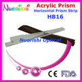 Oftálmica óptico optometría acrílico Horizontal lente de prisma del palillo de gaza cuero caja embalan HB16 envío gratis