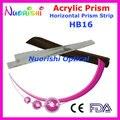 Oftálmica óptico optometria acrílico Horizontal lente de prisma vara faixa capa de couro embalado HB16 frete grátis