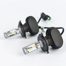 2 PCS Car Headlight Bulb Hi-Lo Beam COB LED Headlights 72W 8000LM 6500K Auto Headlamp 12v 24v fog light H4 H7 H8 9005 9006 цена