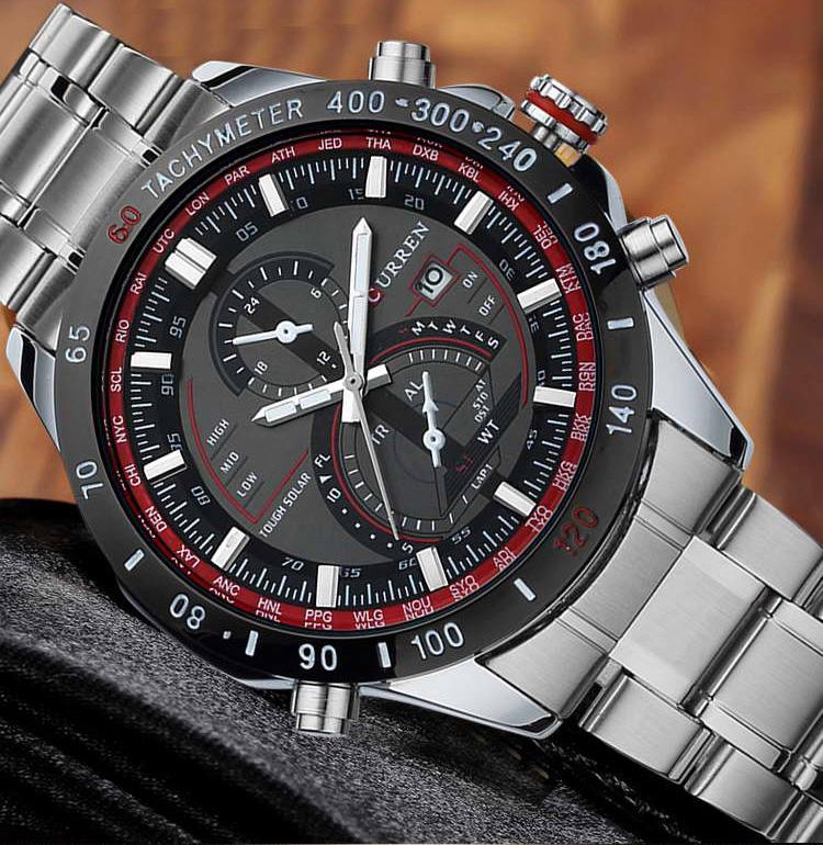 Prix pour 2017 CURREN Or Quartz Montre Hommes Montres Top Marque De Luxe Célèbre Homme Horloge Hommes Montre-Bracelet À Quartz-Montre Hodinky Relojes Hombre