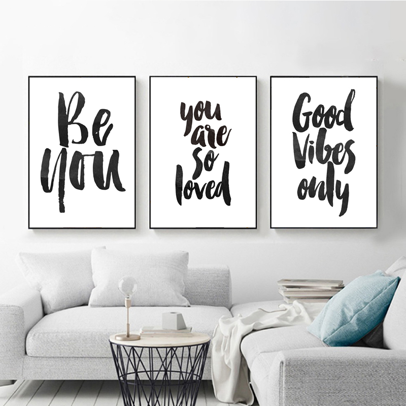 Inspiration Poster Life Quotes Canvas Prints Minimalist Wall Art Painting Decors