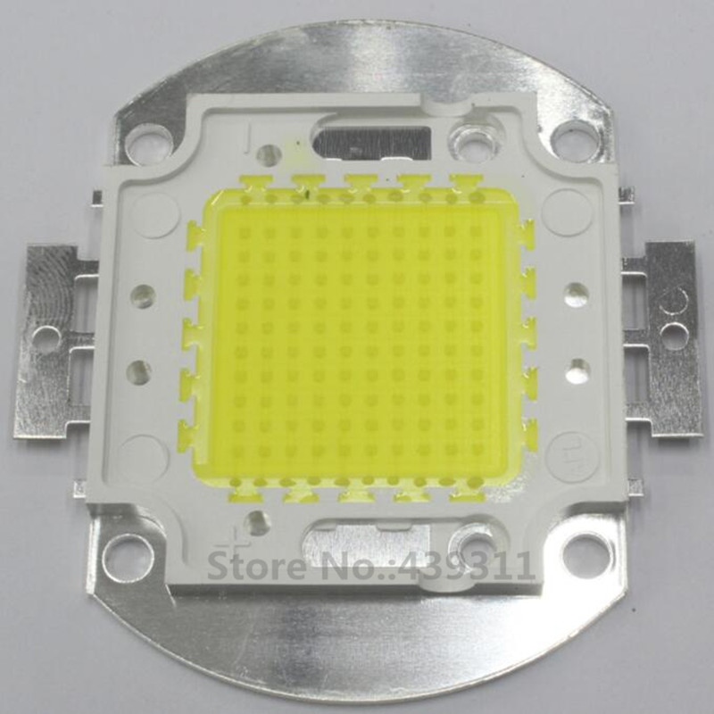 100W LED Integrated High Power Lamp Warm white/White 3000mA 32-34V 8000-9000LM 30*30mil Genesis Chips Free shipping 10w 20w 30w 50w 100w led lights high power lamp warm white white taiwan genesis 30mil chips