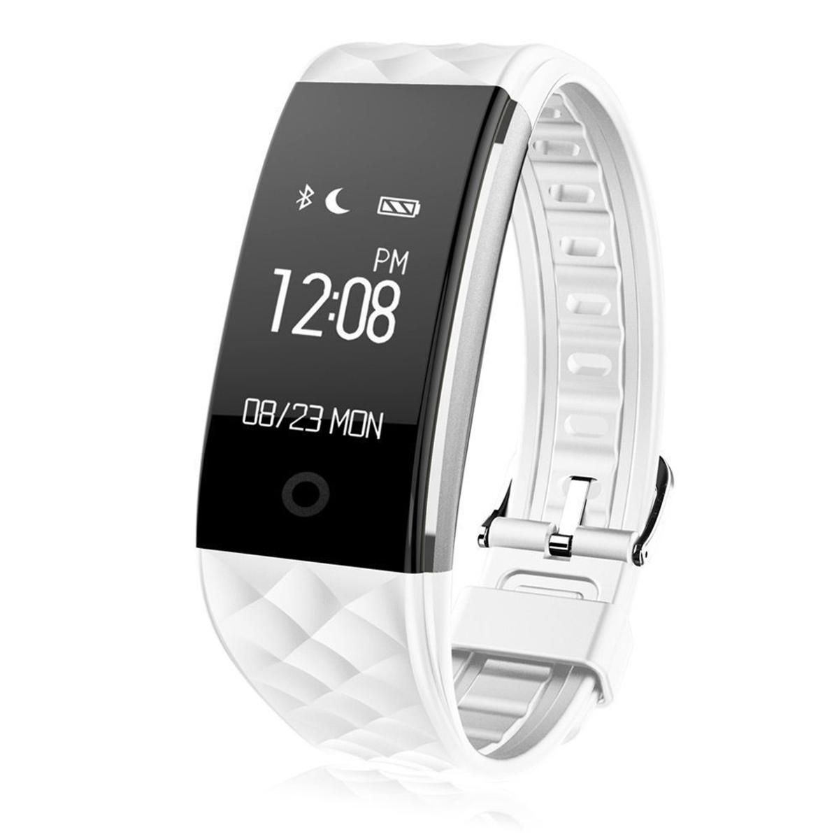 Montre intelligente Bluetooth blanche