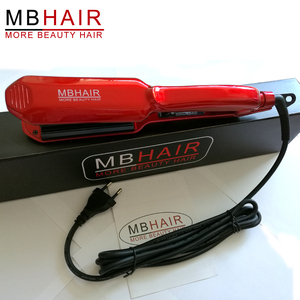 MBHAIR Professional 110-240V Ceramic Corrugated Iron for Hair Wave Corrugation Flat Irons Electric Curling Crimped Wide Plates