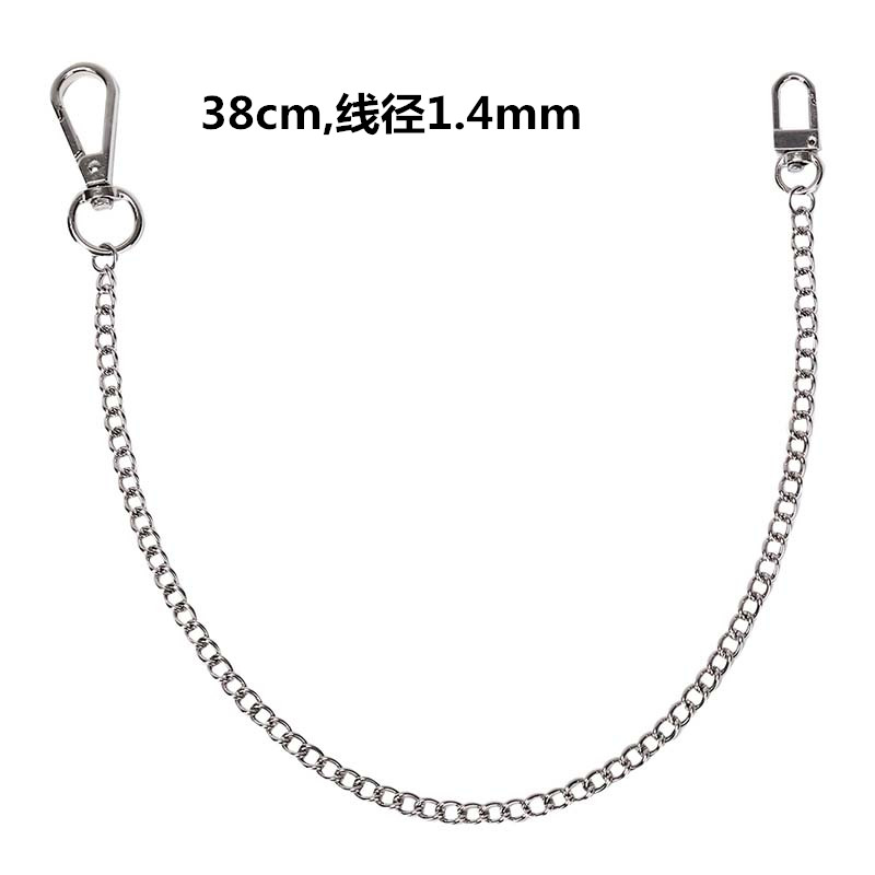 Hot Clip Silver Chain Keyring Keychain Strong Metal Hipster Key Wallet Belt Ring