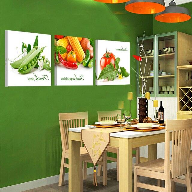 Fruta lienzo de pared para cocina comedor lona pintura decoración ...