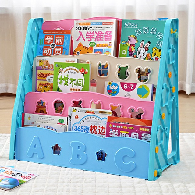 Kids Book Shelf Magazine Rack Book Shelf Wall Storage Component Mini  Bookshelf Display Organizer 3 Level