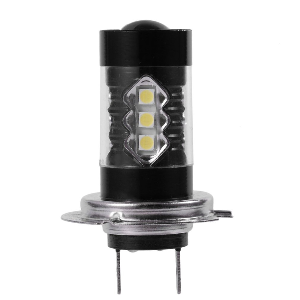 1pc 80W H7 LED Bulb 16 SMD Car Fog Light DC 12V~24V White Headlight DRL Fog Lamp Light Sourcing 1920lm Hot Selling