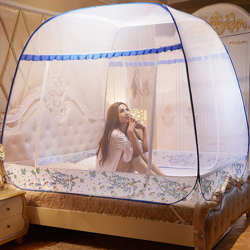 Single Bed, Double Bed ,1.2 2.0 Bed LHYAN Mosquito net for Bed Foldable yurt Tent Anti-Mosquito bite Baby Adult Travel