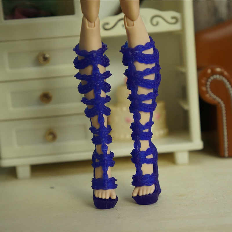 wholesale fashion Children kids baby toys Girls Gift Doll Accessories nice lot shoes bjd For Monster High original Dolls 1/6 8