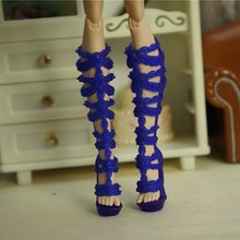 wholesale fashion Children kids baby toys Girls Gift Doll Accessories nice lot shoes bjd For Monster High original Dolls 1/6 8(China)