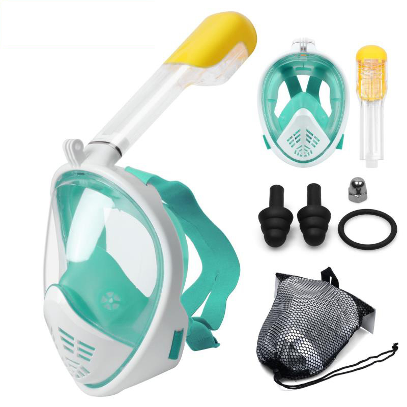 Bajo el agua buceo máscara de cara completa snorkel máscara de superficie Anti niebla snorkel máscara de buceo natación pesca submarina