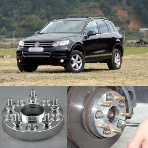 Teeze 4pcs New Billet 5 Lug 14*1.5 Studs Wheel Spacers Adapters For Volkswagen Touareg 2 pieces of specialized in the production of wheel adapters wheel spacers 4 x100 suitable for toyota corolla vios and yaris