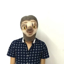 1pcs Funny Halloween Mask Animal Sloth Head Party Festival Supplies Cosplay Costume
