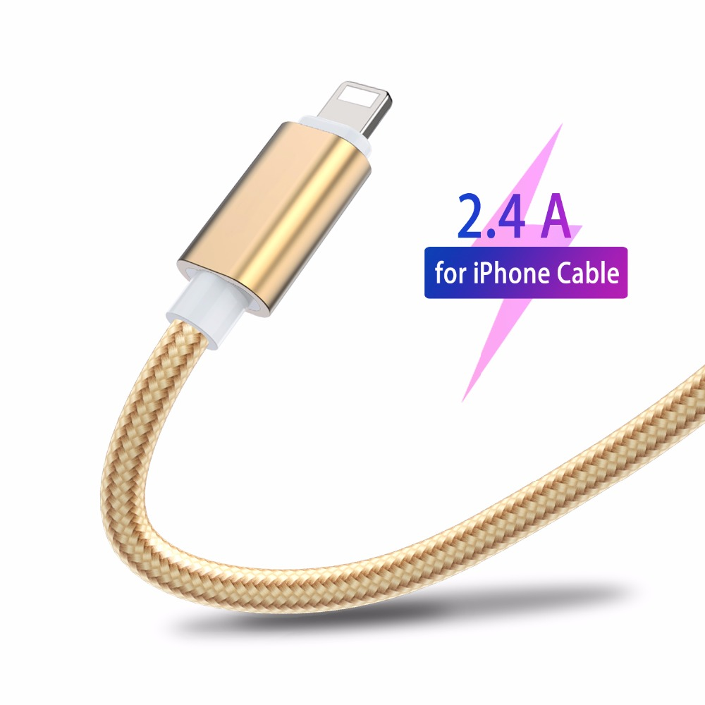 USB Cable Cord for iPhone Xr X Xs 8 7 6 6S Plus 5 5S SE IOS Quick Fast Charging Line Sync Data Cables for iPad 3 4 to Power Bank