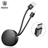 Baseus USB Type C Cable For Huawei P10 Plus Retractable 90cm 2A For Samsung Galaxry S8