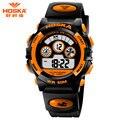 E-Relógio Moda Calendário Completo Zona Vezes Bateria Original Elástico Scratch-resistant Digital Watch Crianças Menino H001