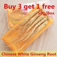 (Buy 3 get 1 free) China Wild Natural Changbai Mountain Renshen Dry White Ginseng Root