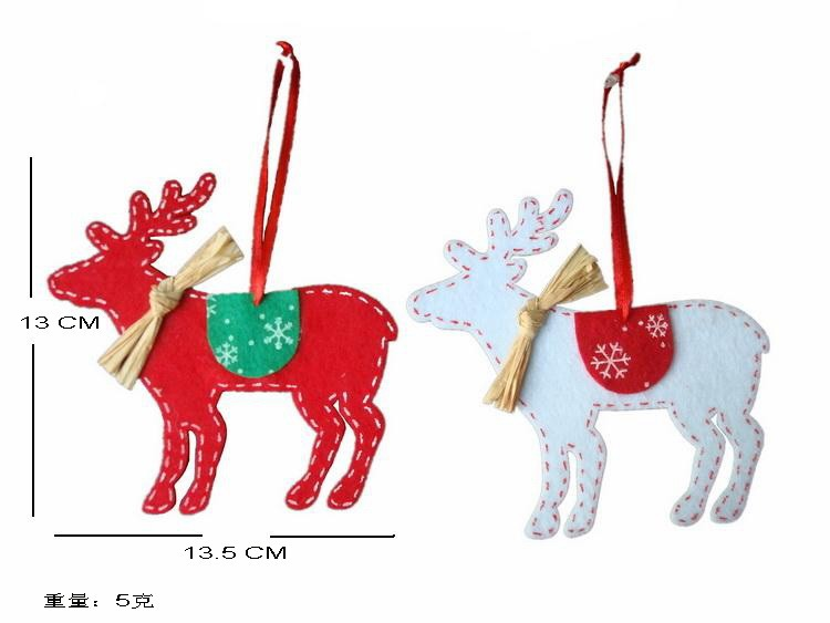 40pcs/lot on tree Soft Elk deer Christmas Indoor or Outdoor Christmas Hanging gift decorations Ornaments 40%off ...