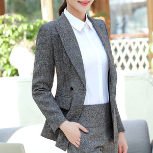 Image 3 - Naviu High Quality Blazer Women Formal Business Slim Long Sleeve Jacket Office Ladies Plus Size Tops