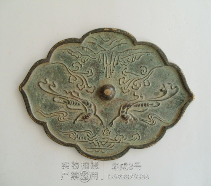Rare Distinctive Tang Dynasty bronze mirror, Carved fairy,Large Size,Free shippingRare Distinctive Tang Dynasty bronze mirror, Carved fairy,Large Size,Free shipping