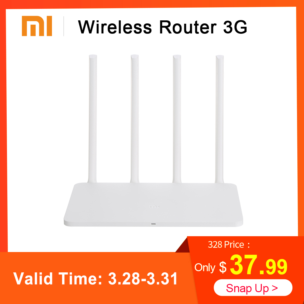 Origine Xiao mi mi 3G Routeur répéteur wi-fi 2.4G/5 GHz Double 128 MB Bande Flash ROM 256 MB Mémoire APP Contrôle 802.11ac routeur sans fil