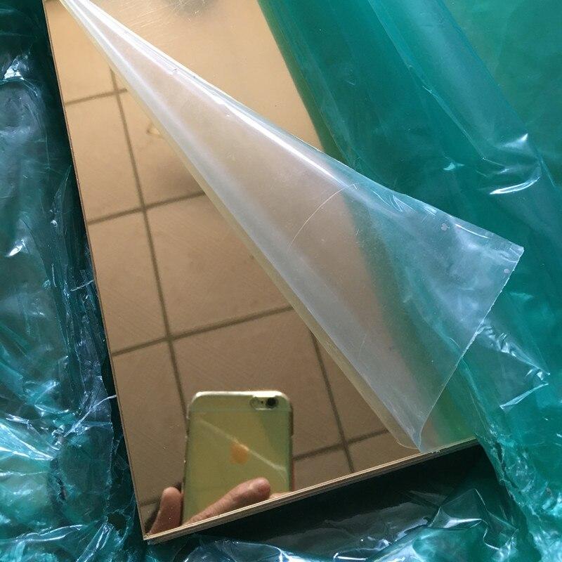 16pcs Acryl Spiegel Goud 400x600x2mm PMMA Plastic Huis Badkamer Decoratieve Lens We Kunnen Proofing custom Willekeurige Vorm-in Decorateive Spiegels van Huis & Tuin op  Groep 2