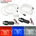 4 pçs/set Carro CCFL LED Angel Eyes Faróis para BMW X5 (E53) Angel Eyes Kits 3-Color # J-3899