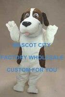 Лидер продаж НЧ динамик собака Маскоты костюм для взрослых Размеры маленькая собачка щенок Маскоты te костюм нарядное платье партии Карнава