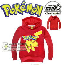 4-11y Fashion Autumn Winter Cotton Printed Long-Sleeved Hoodies Pikachu Children Outfits Kids Hoodies Toddler Boys Outdoor Wear