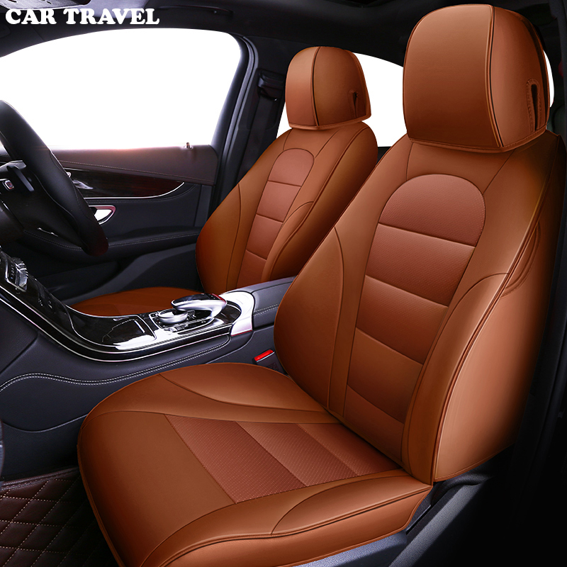 Image 4 - CAR TRAVEL Custom leather car seat cover for Toyota Corolla Camry Rav4 Auris Prius Yalis Avensis SUV auto accessories car sticks-in Automobiles Seat Covers from Automobiles & Motorcycles
