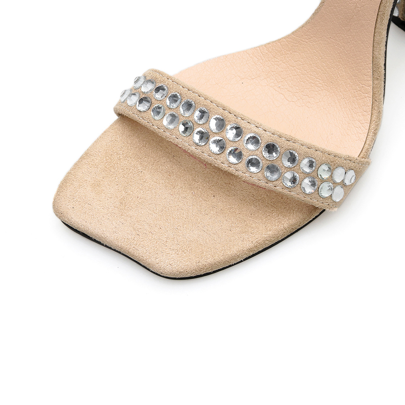 Damas Mujeres Vestido Hebilla Diamante Zapatos Cruz De Alto Las Talón Imitación Oficina Tacón Cm Moda Sexy Sandalias 10 Fiesta TxSqpnE