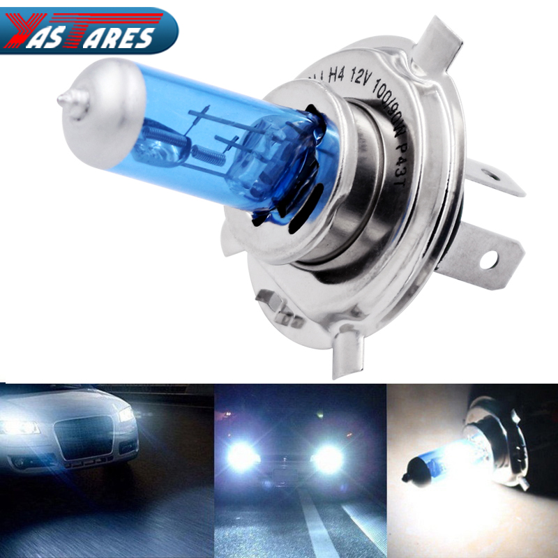 2pcs Car Headlight H1 H3 H4 H7 Xenon super Lamp Super White Car Auto Head Light halogen Bulbs 55W 100W 12V 5000K Fog lights