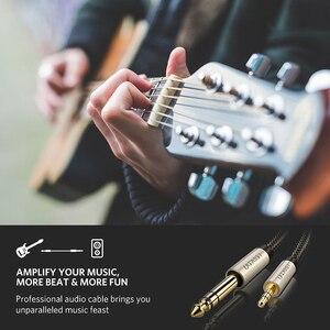 Image 4 - Ugreen 3.5mm için 6.35mm adaptör Aux kablosu mikser amplifikatör CD çalar hoparlör altın kaplama 3.5 Jack 6.5 jack erkek ses kablosu