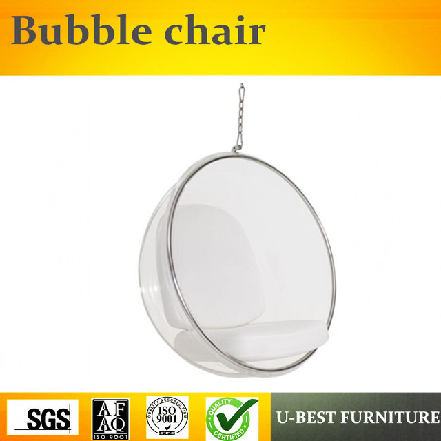 U BEST Clear Acrylic Swing Hanging Bubble Leisure Chairs,Replica Acrylic  Ball Shaped Lounge