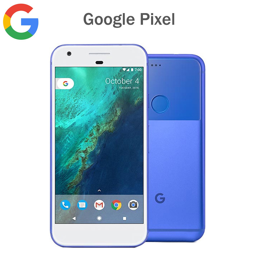 Original EU Version Google Pixel 4G Mobile Phone 5.0inch 4GB RAM 32GB/128GB ROM Snapdragon821 Quad Core Android Smart Phone NFC