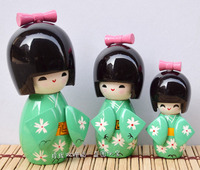 Decoration Arts crafts girl gifts get married Exquisite three piece Japanese doll Japanese Geisha doll handicraft ornaments huma