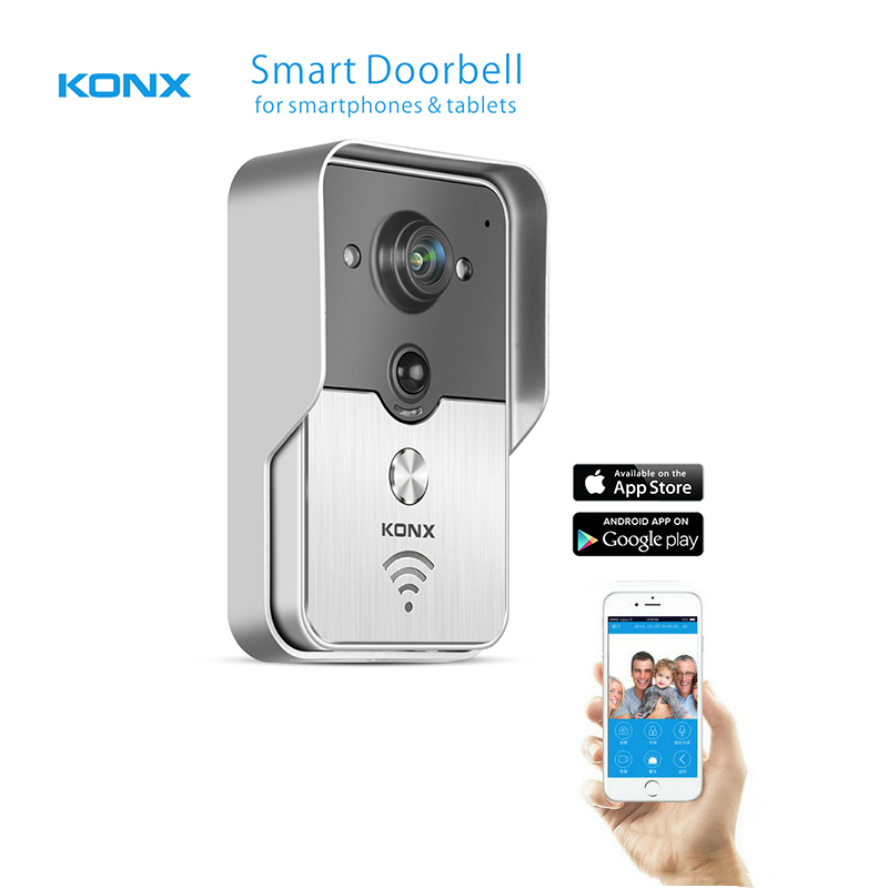 2017 Popular WiFi Wireless Video Door Phone intercom Doorbell peephole Camera PIR IR Night Vision Alarm Android IOS Smart Home(China (Mainland))