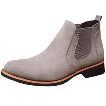 Men's Vintage Leather Ankle Boots w/ Med Heel
