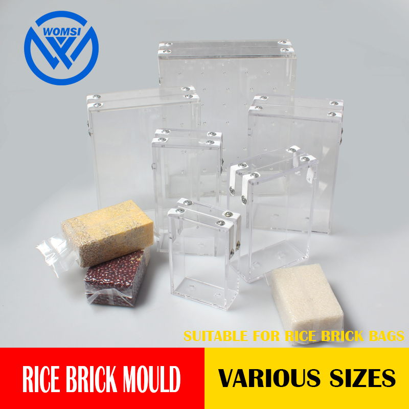 WOMSI Vacuum rice brick bag mould grains bag Box mould rice packaging plastic mould solid brick fixed Packaging moldWOMSI Vacuum rice brick bag mould grains bag Box mould rice packaging plastic mould solid brick fixed Packaging mold