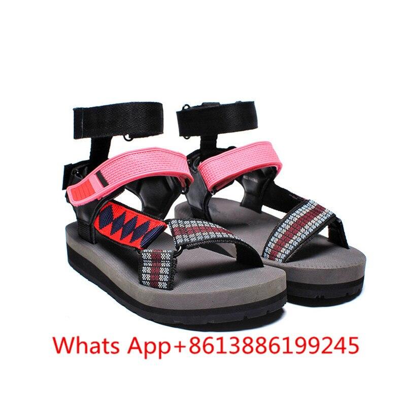 Veraniego Abierta Mujer Pic Colores Zapatos as Sandalias Moda Mezclados Gladiador Punta As Zapatillas Playa Plataforma De Pic Estilo qH1tp