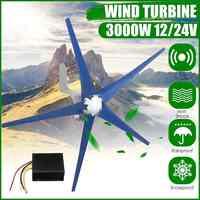 3000W 5 aspas generador de turbinas de viento 12 V/24 V generador de viento Horizontal con controlador turbinas de energía de molino de viento carga