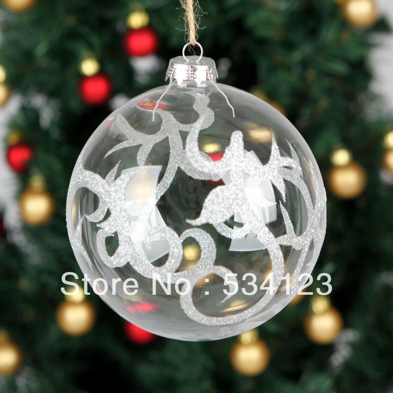 Glass Christmas Balls Decoration Ideas : Dia cm factory wholesale exquisite christmas decorations