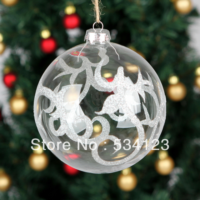 Decorating Glass Ball Ornaments Unique Dia13Cm Factory Wholesale Exquisite Christmas Decorations Glass Inspiration Design